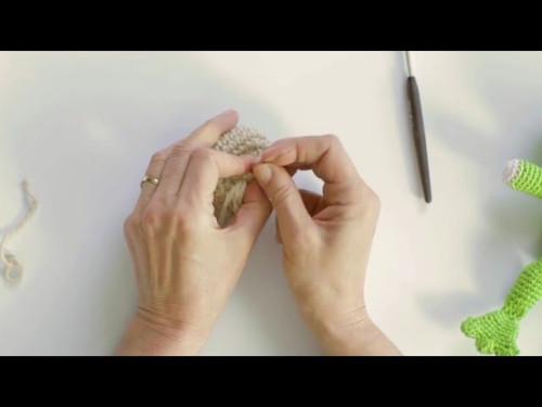 Häkeln mit eliZZZa * Milupa Häkeltiere Amigurumi 05 * Faden sauber vernähen