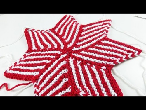 knitaholics Advent Calendar 2014 * December 05 * Striped Star from Diamond Shapes