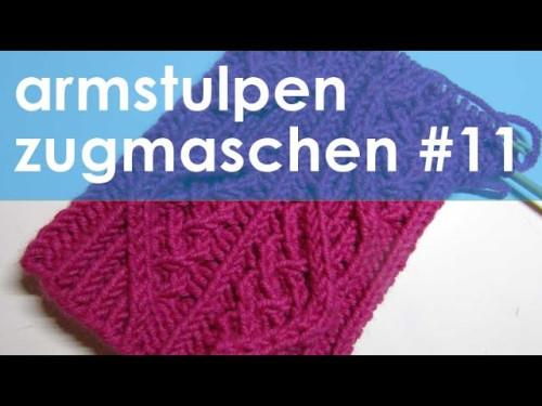 nadelspiel StriMiMi Jänner 2016 * Zugmaschen * Mütze, Armstulpen, Socken * Teil 11