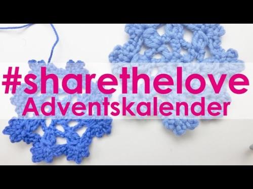 #sharethelove Adventskalender * Wir häkeln eine Schneeflocke mit eliZZZa