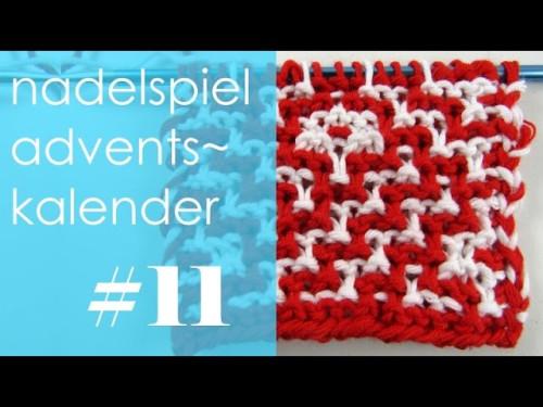 nadelspiel Adventskalender * Dezember 11 * Mosaiktechnik für kleine Geschenke