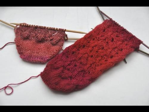 nadelspiel Sockenkalender Juli * Lace Socken